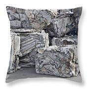 Aluminum Recycling Throw Pillow