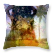 Aluna Ahiahi Hula Throw Pillow