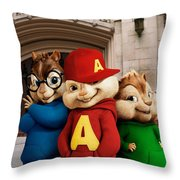 Alvin And The Chipmunks Throw Pillow