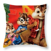 Alvin And The Chipmunks Chipwrecked Throw Pillow