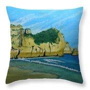Alvor Praia's Throw Pillow