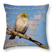 Always Believe In Yourself Throw Pillow