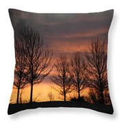 Always Darkest Before The Dawn Throw Pillow