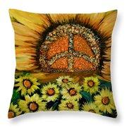 Always Face The Sun Throw Pillow