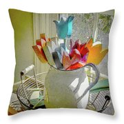 Always In Bloom Throw Pillow