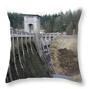 Alwen Reservoir Dam Throw Pillow