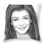 Alyson Hannigan Throw Pillow
