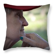 Alzheimer's The Aging Of A Lady Throw Pillow