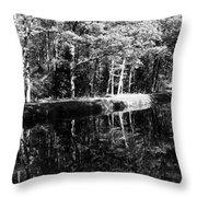 Am Alten Kanal Throw Pillow