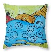 Am I Blue Throw Pillow