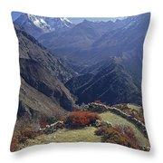 Ama Dablam Nepal In November Throw Pillow