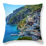 Amalfi Coast, Positano, Italy Throw Pillow