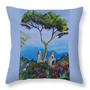 Amalfi Italy Color Throw Pillow