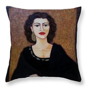 Amalia Rodrigues - Music Born In The Soul Throw Pillow