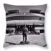 Amalie Arena Black And White Throw Pillow