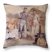 Amanda And Athole Milne Collage Throw Pillow