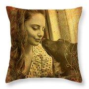 Amanda And Petey Throw Pillow