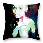 Amani African American Nude Fine Art Painting Print 4966.03 Throw Pillow