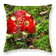 Amanita Muscaria Throw Pillow