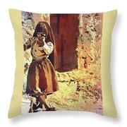 Amantani Girl- Peru Throw Pillow