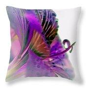 Amaryllis Butterfly II Throw Pillow