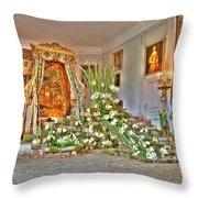 Amaryllis Exhibition In Beloeil Castle, Belgium Throw Pillow