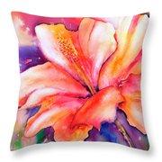 Amaryllis Flower Throw Pillow