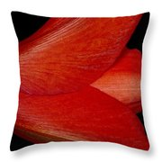 Amaryllis Flower Sideways Throw Pillow