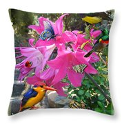 Amaryllis Party Throw Pillow