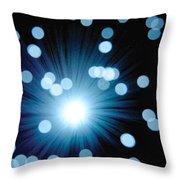 Amazing Blue Throw Pillow