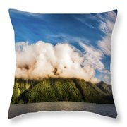 Amazing Cloud Formation At Lake Manapouri In New Zealand Throw Pillow