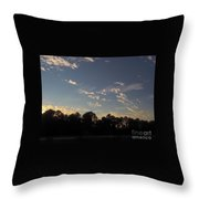 Amazing Clouds Before Sunset Throw Pillow