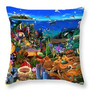Amazing Coral Reef Throw Pillow