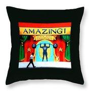 Amazing Feats Throw Pillow
