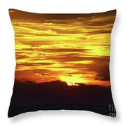 Amazing Fire In The Sky Throw Pillow