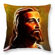 Amazing Jesus Portrait Throw Pillow by Pamela Johnson