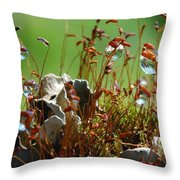 Amazing Jungle Of The Microcosm Throw Pillow