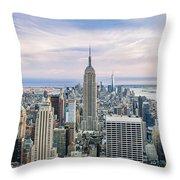 Amazing Manhattan Throw Pillow