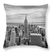Amazing Manhattan Bw Throw Pillow