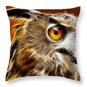 Amazing Owl Portrait Throw Pillow