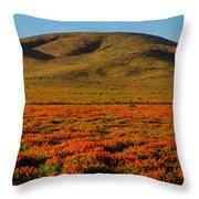 Amazing Poppy Fields Throw Pillow