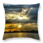 Amazing Rays Throw Pillow