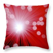 Amazing Red Throw Pillow
