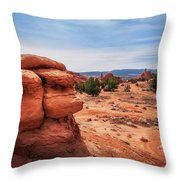 Amazing Rock Formations At Kodachrome Basin State Park, Usa. Throw Pillow