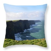Amazing Scenic Views Of The Cliff's Of Moher Throw Pillow