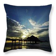 Amazing Sky Pier 60 Throw Pillow