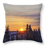 Amazing Winter Sunrise Throw Pillow