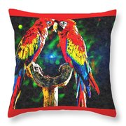 Amazon Parrotts Throw Pillow