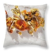 Amber #8341 Throw Pillow