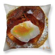 Amber And Ethiopian Opal Throw Pillow